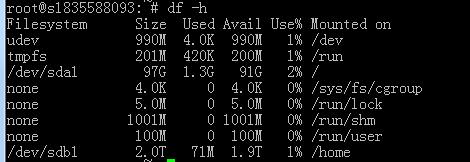 Linux-新硬盘分区-格式-挂载到home
