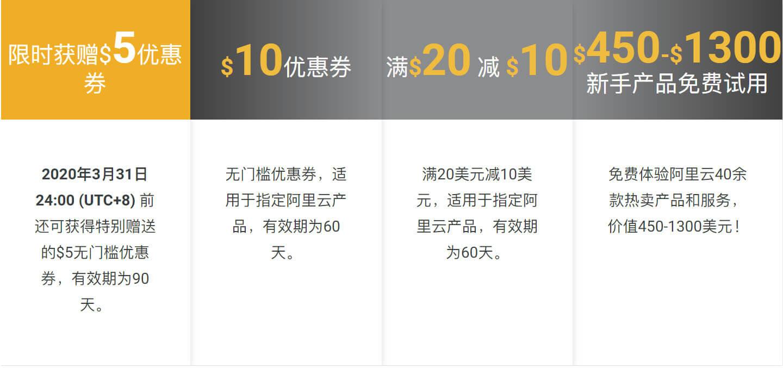 2020-03 阿里云国际,跃上云端活动,新注册用户拿25$